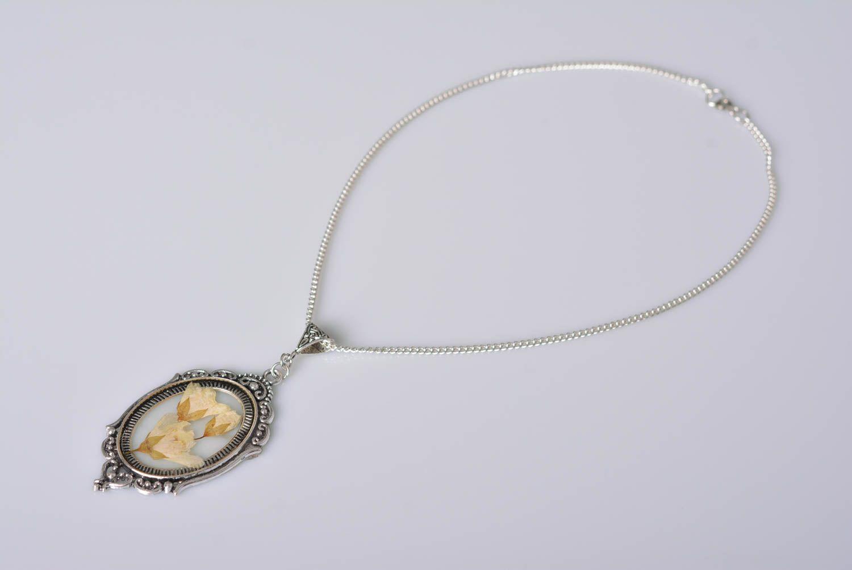 Handmade jewelry botanic pendant flower pendant accessories for girls photo 3