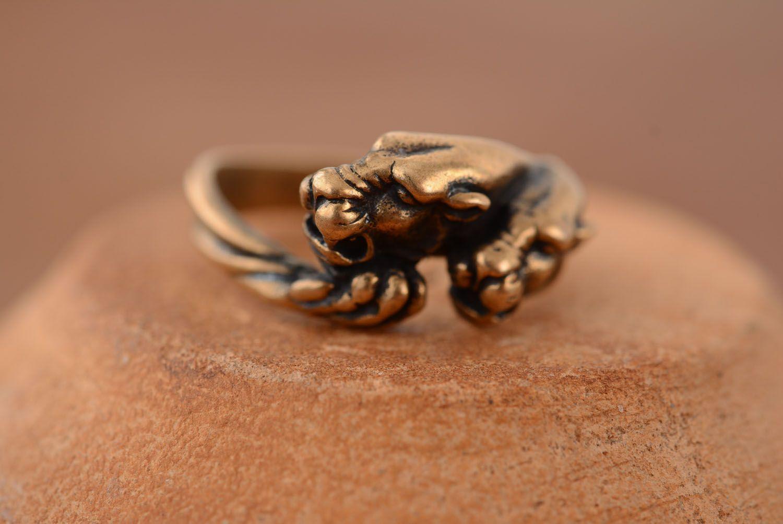 Ring aus Bronze Panther foto 3