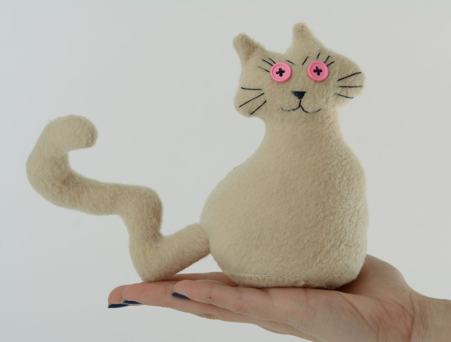 Soft toy in the shape of cat photo 4