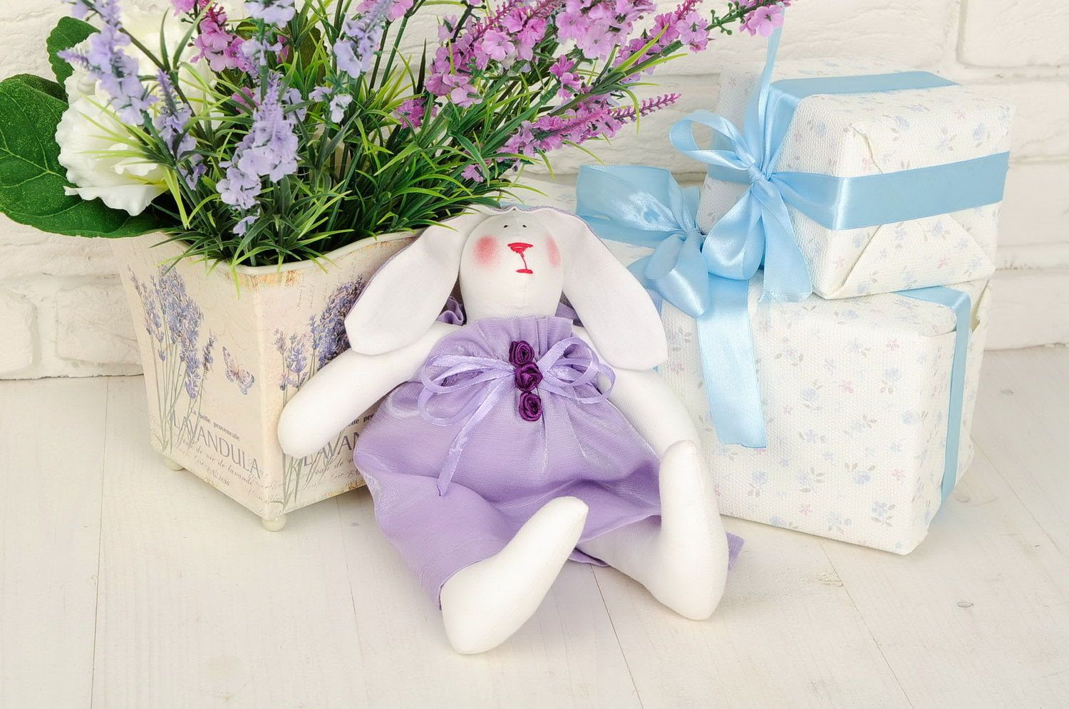 Soft toy Hare girl photo 1