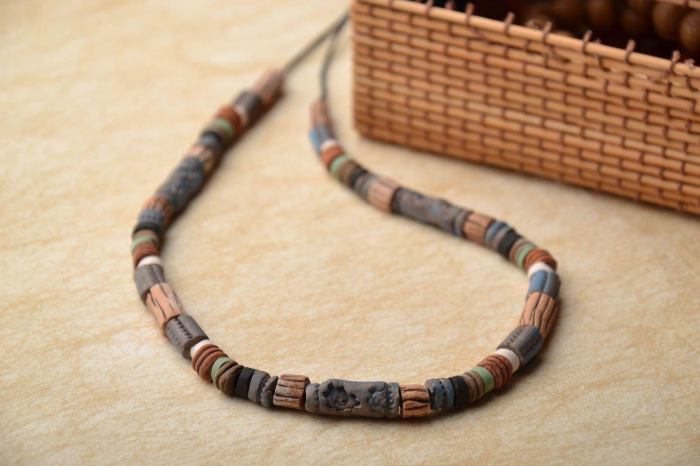 Handmade ceramic necklace photo 1