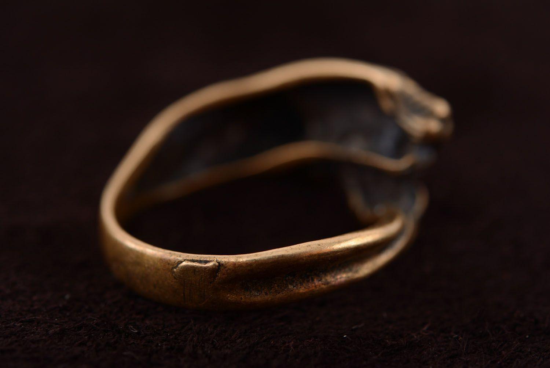 Ring aus Bronze Panther foto 5