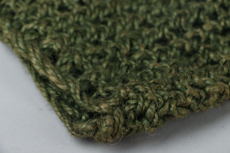 Jute crochet body scrubber  photo 3