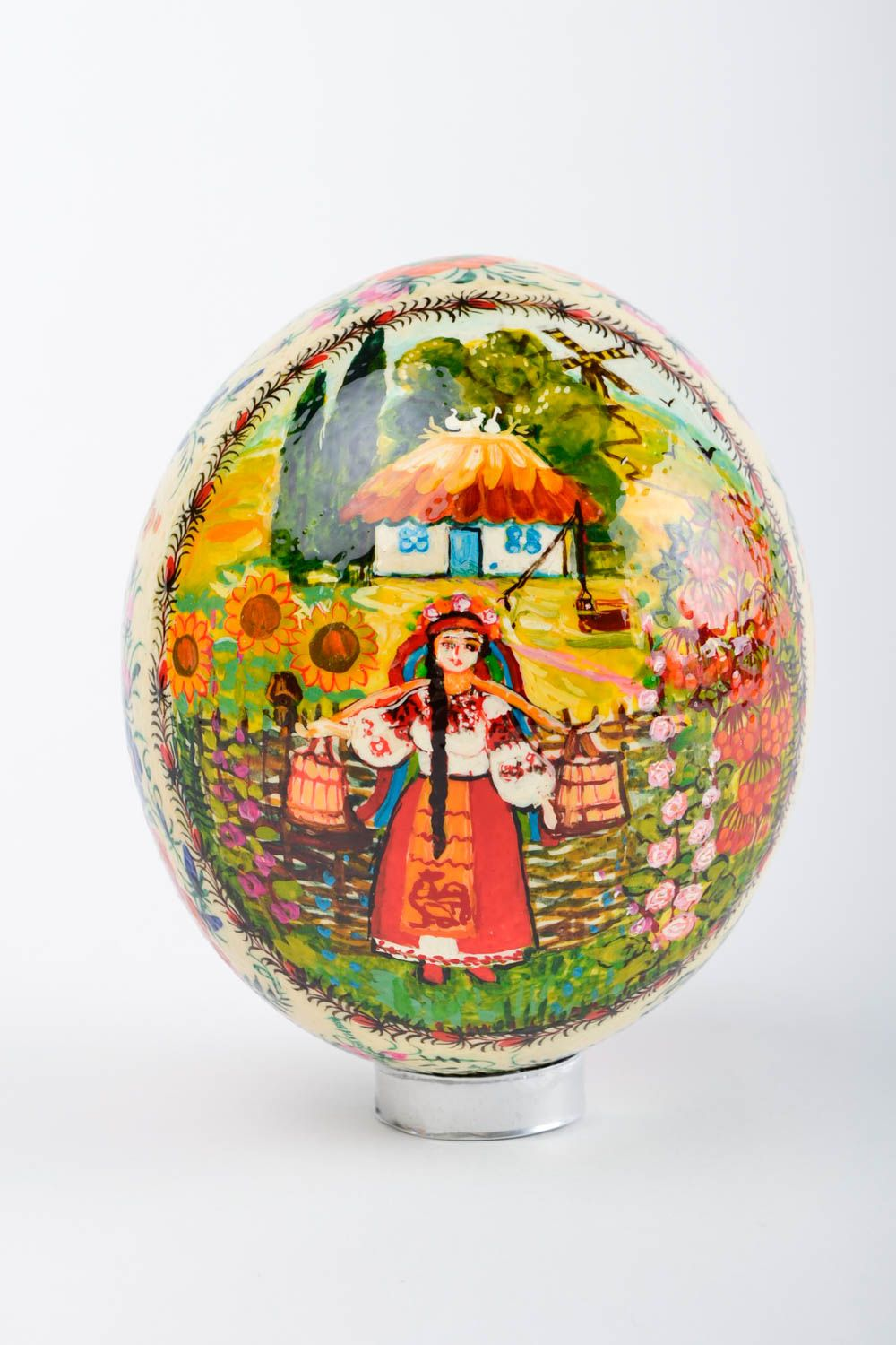ostrich easter eggs Handmade cute Easter souvenir stylish big ostrich egg decorative use only - MADEheart.com