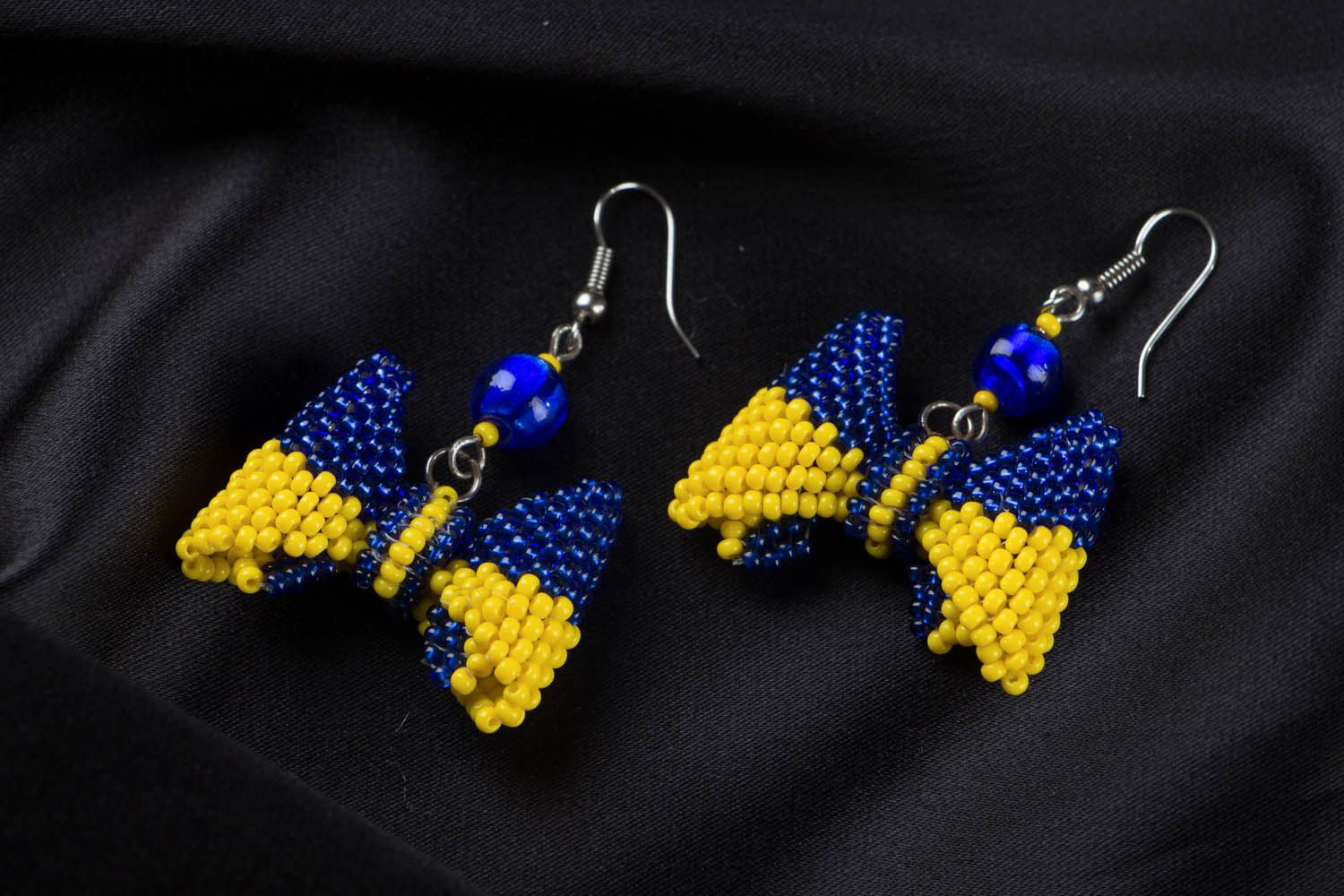 Homemade beaded earrings photo 1
