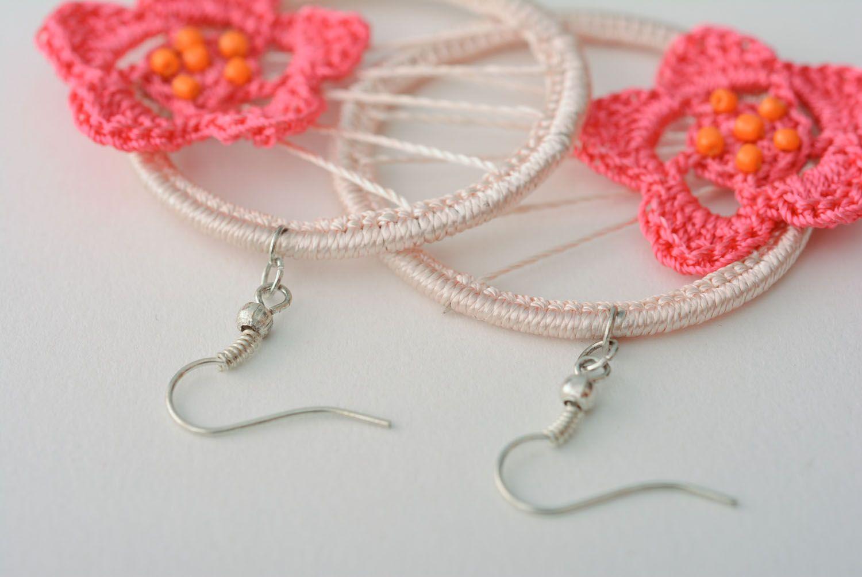 Crochet earrings With Flower photo 5