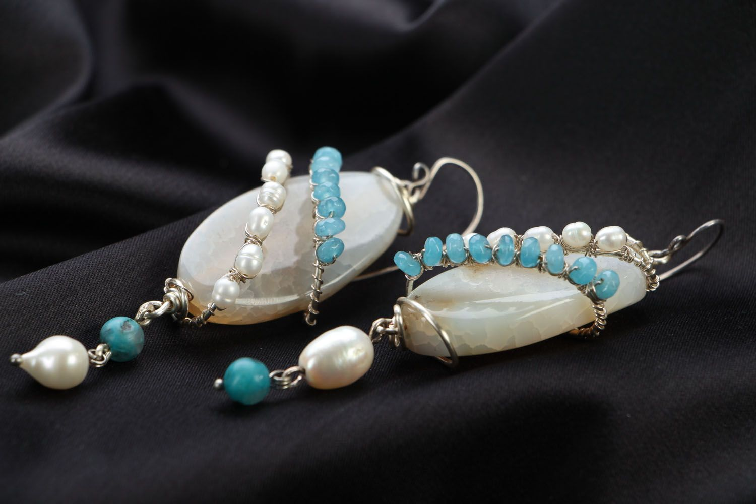 Natural stone earrings photo 2