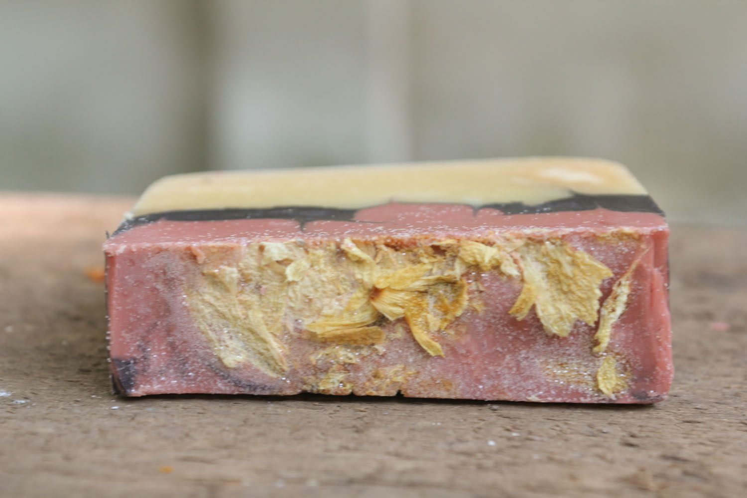 Homemade soap with rose petals photo 3