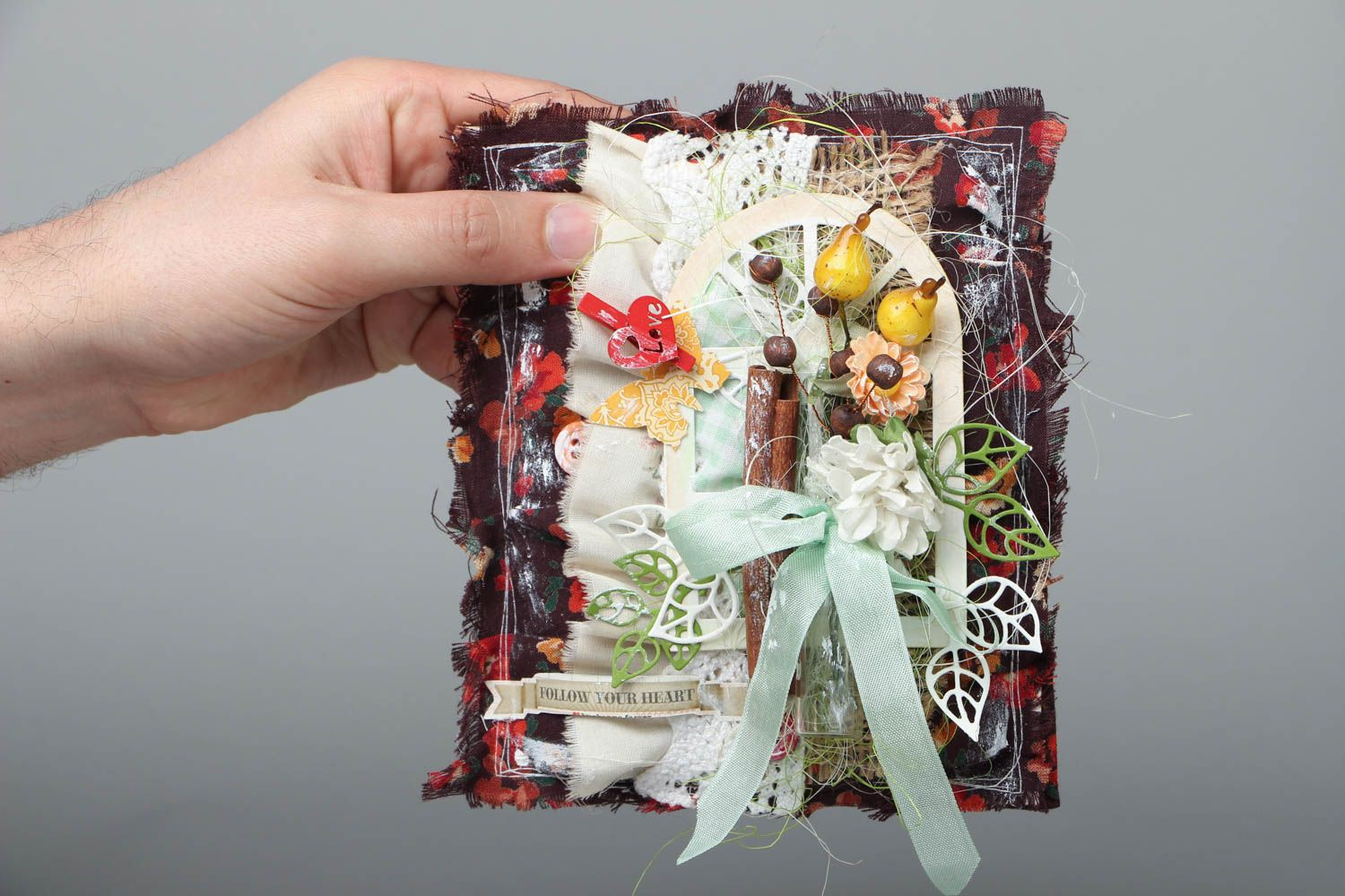 Handmade greeting card Summer in Village photo 4
