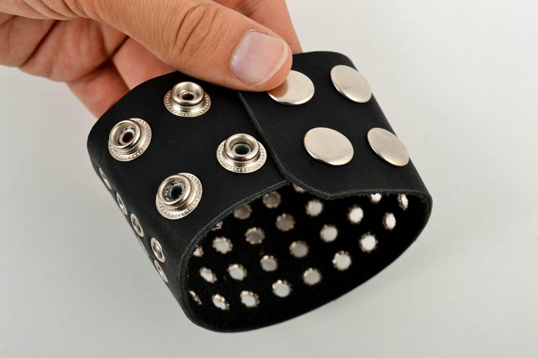 Leather wrap bracelet handmade jewelry men accessories handmade leather goods photo 5