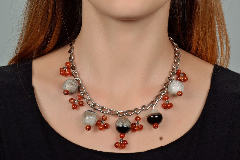 Beautiful gemstone necklace  photo 1