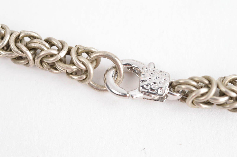 Handmade cupronickel bracelet chain weaving accessories designer bijouterie photo 3