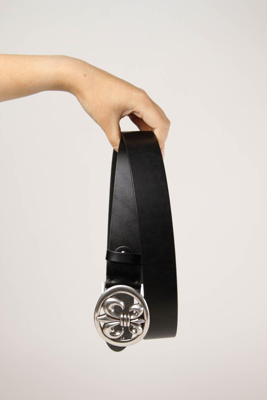 Handmade belt designer accessory for men gift ideas unusual belt black belt photo 3