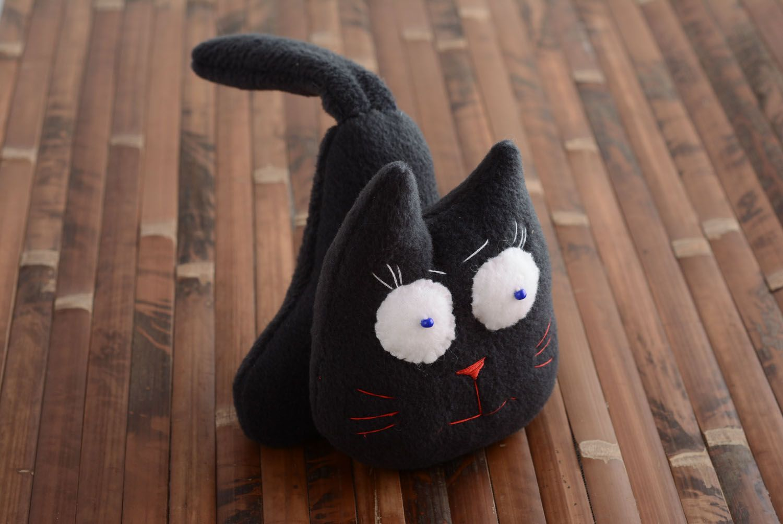 Fabric fleece toy Black Cat photo 5