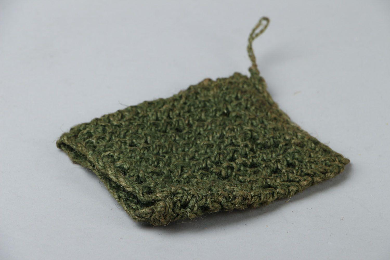Jute crochet body scrubber  photo 2