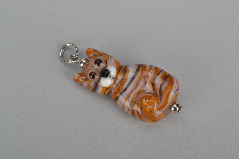 Glass pendant Cat photo 3