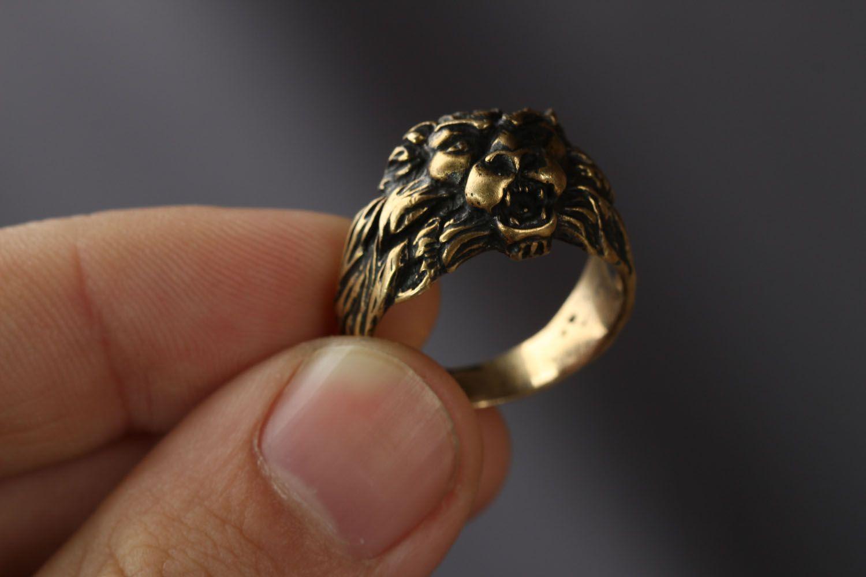Löwenkopf Ring foto 3