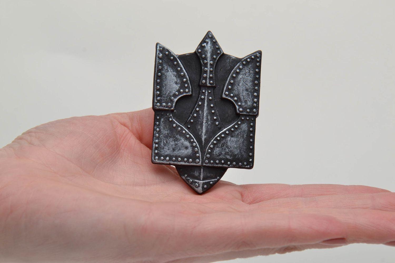 Ceramic fridge magnet Trident photo 5
