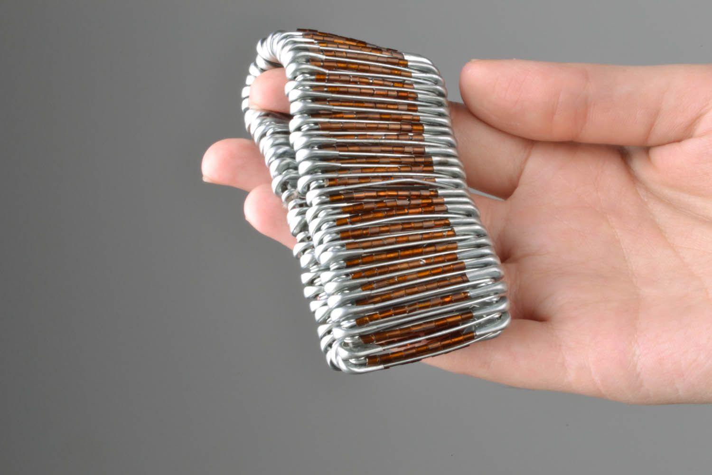 Unusual metal bracelet photo 5