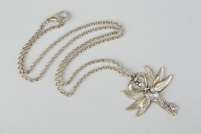 Handmade metal key pendant photo 4