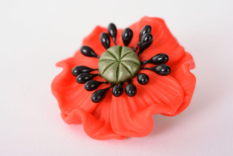 Blumen Brosche aus Polymerton foto 1