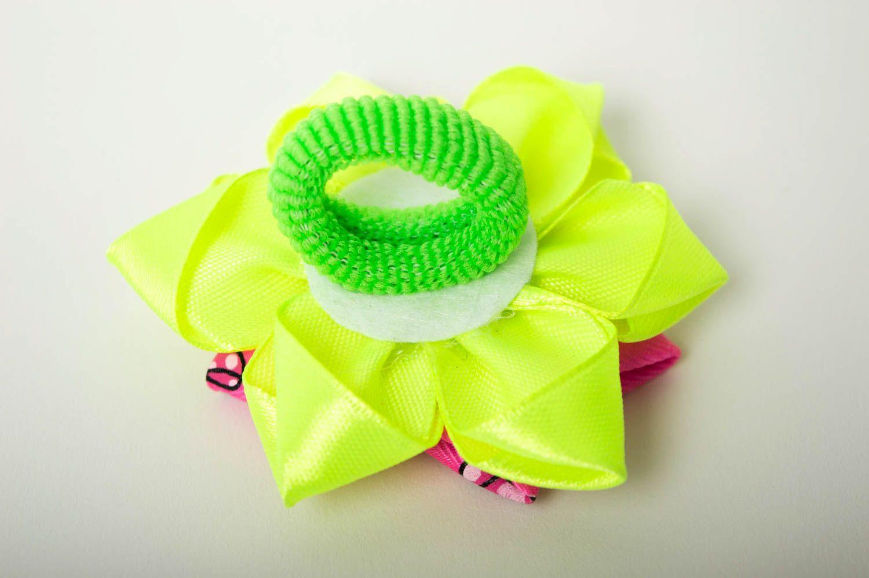 Необычный подарок ручной работы аксессуар для волос яркая резинка для волос фото 3