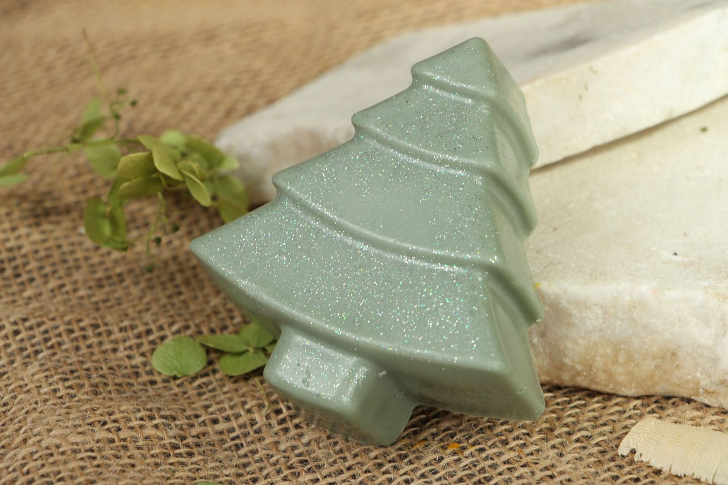 Beautiful soap in the shape of fir tree photo 4