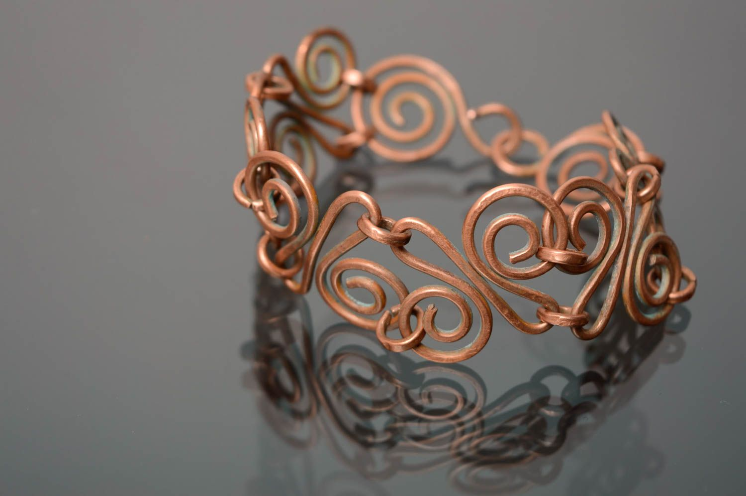 Wire wrap copper bracelet Aldebaran photo 1