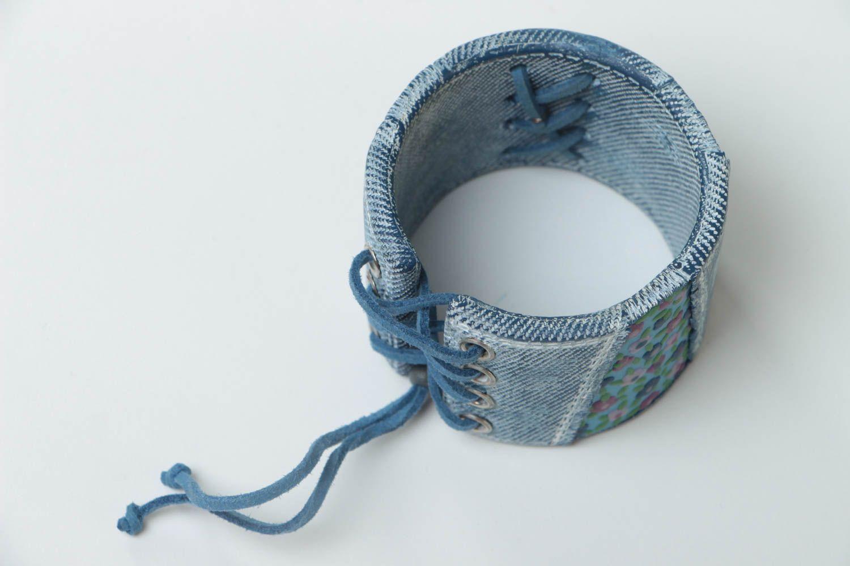 Bracelet large en pâte polymère Bijou fait main original Cadeau pour femme photo 5