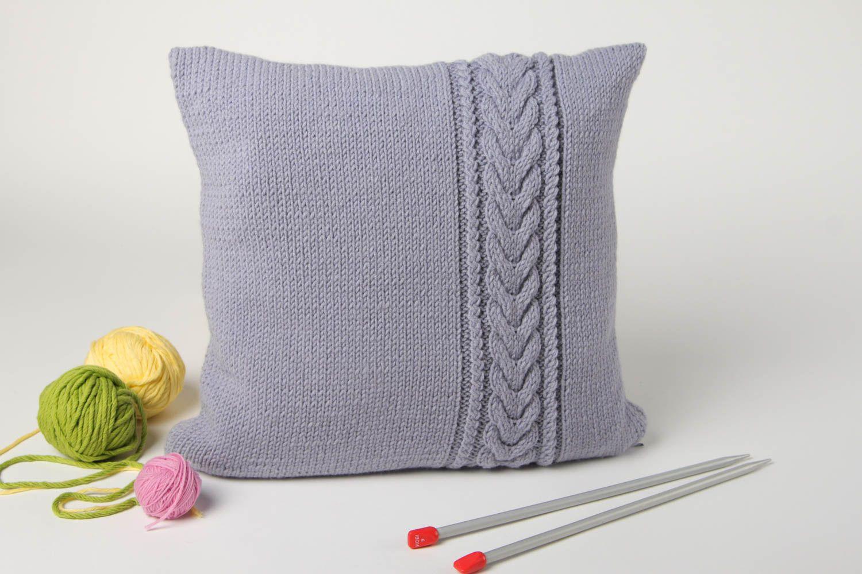 Textilien Und Teppiche Graues Deko Kissen Handmade Wohn Accessoire Wohnzimmer  Deko Mit Kissenbezug   MADEheart.
