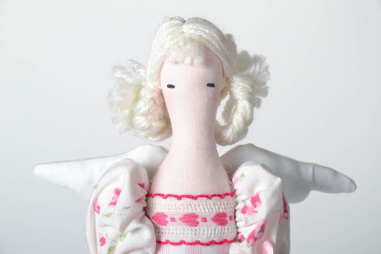 Interior doll made of natural fabrics photo 3