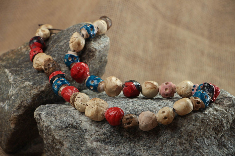 Colorful ceramic bead necklace photo 5
