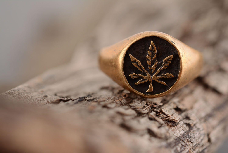 Homemade bronze seal ring photo 2