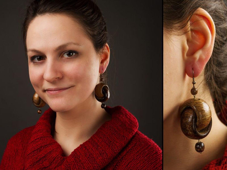 Wooden Earrings photo 2