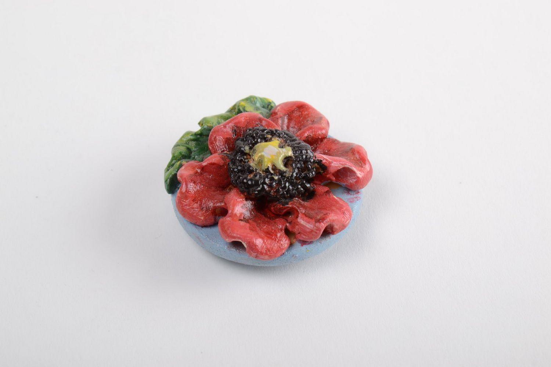 Ceramic fridge magnet cute souvenir made of clay stylish kitchen decor photo 2
