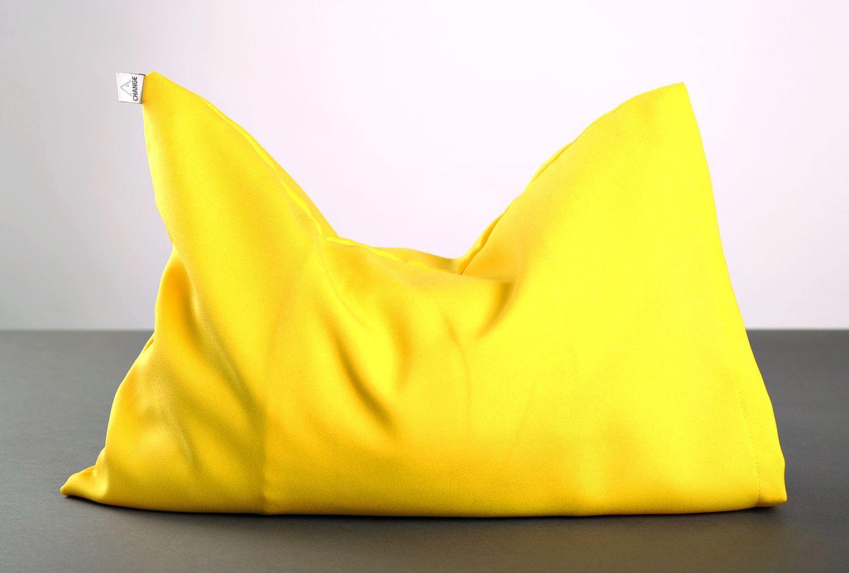 Yellow pillow for yoga photo 1