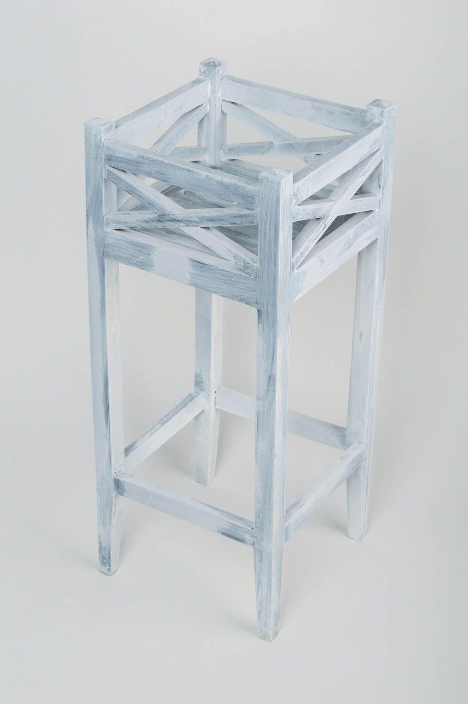 meubles support en bois pour pot de fleurs blanc haut dcoratif fait main original madeheart