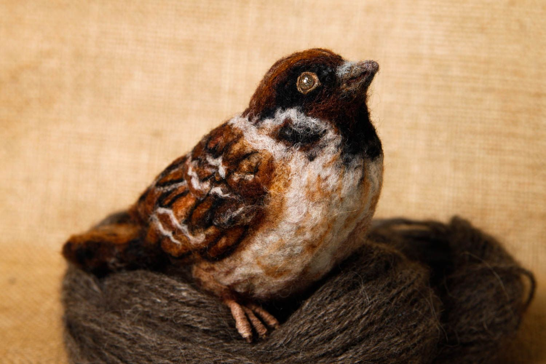 Gut bekannt MADEHEART > Peluche oiseau moineau Jouet fait main en laine  GZ61