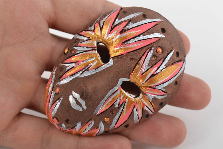 Decorative fridge magnet mask ceramic handmade mask decorative use only photo 2