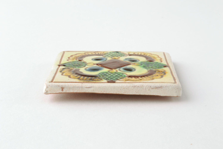 Ceramic magnet for fridge with Ukrainian painting photo 2