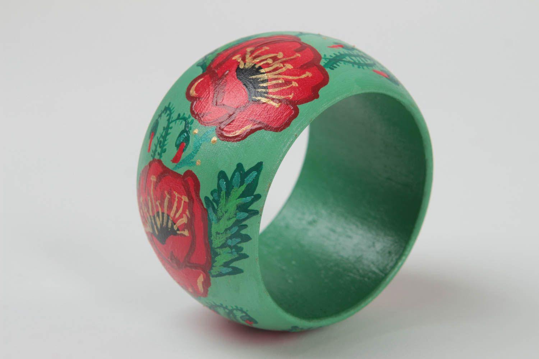Painted wooden bracelet wrist stylish bracelet unusual accessory gift photo 1