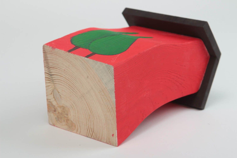 Tischdekor Handmade Holz Haus Dekorative Statuette Wohnzimmer Deko Tisch Rot Kiefer