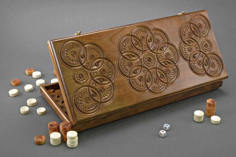 Handmade wooden backgammons photo 1