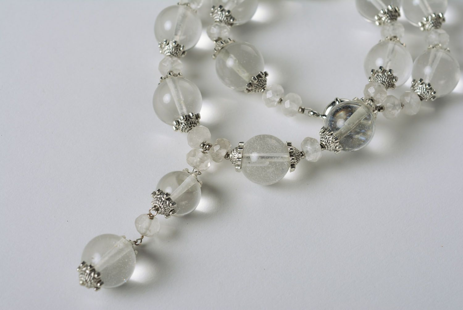 Author's necklace made of rock crystal photo 3