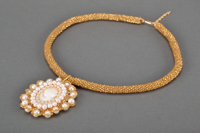 Pendant from Czech beads-1