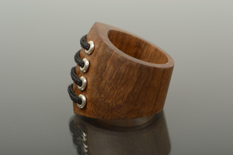 Wooden ring handmade wooden jewelry stylish ring handmade jewelry for women photo 3