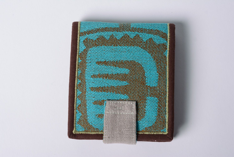 Handmade cotton and denim women's wallet photo 4