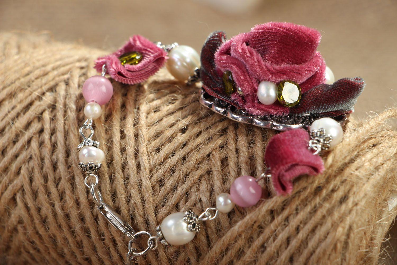 Armband aus Natursteinen Rose foto 4