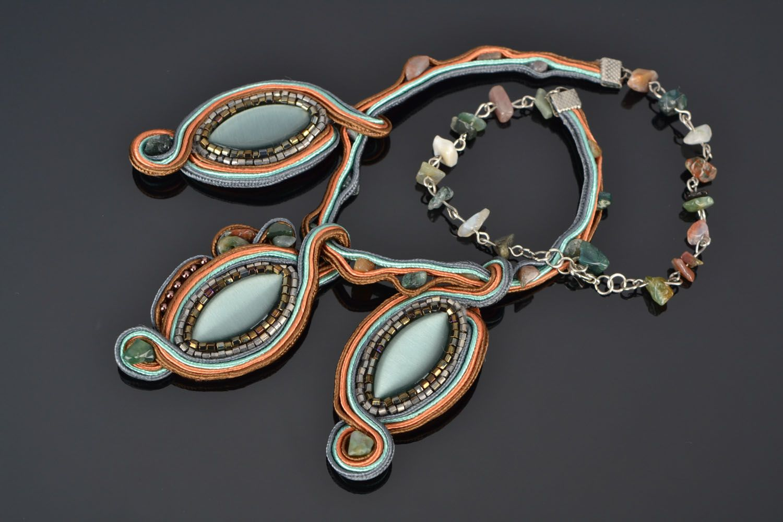 Handmade soutache necklace photo 1