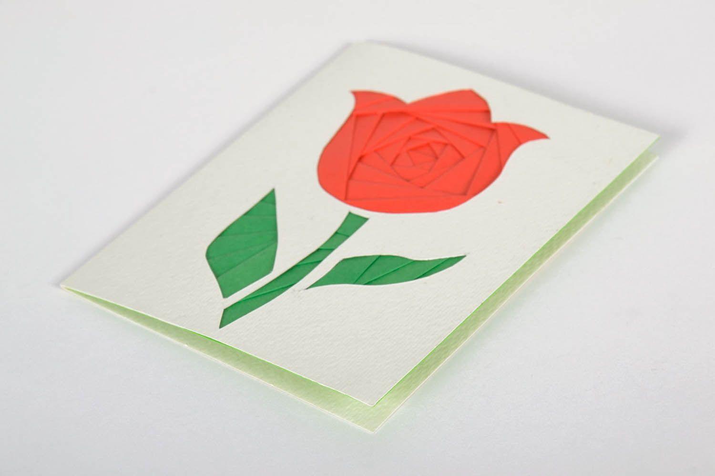 Greeting card made using the art of iris folding photo 2